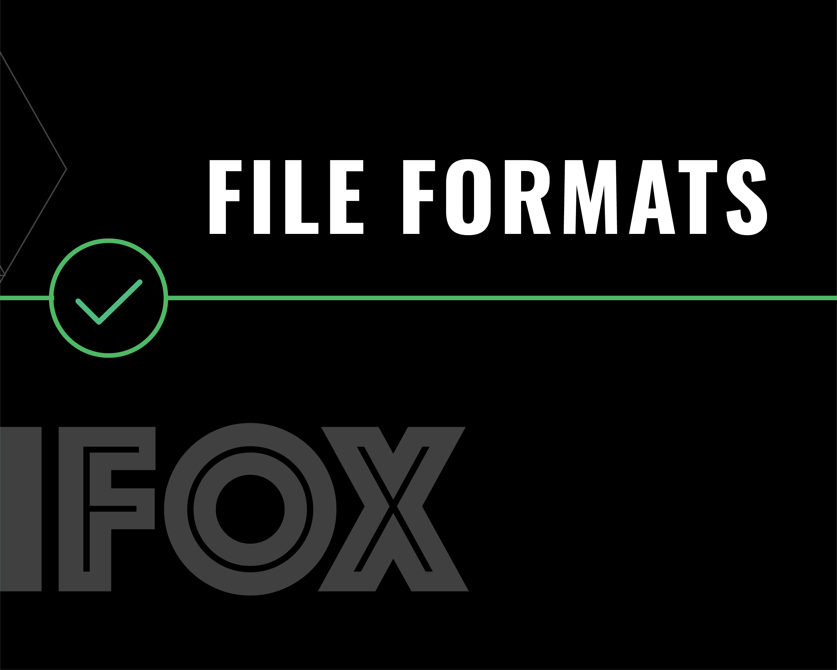 Vector image of File Formats text
