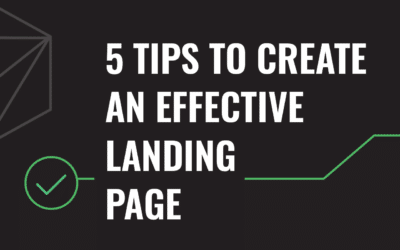 5 Tips to Create an Effective Landing Page